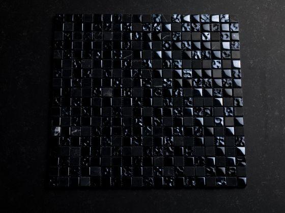 Mozaiek zwart steen mix mm otiles