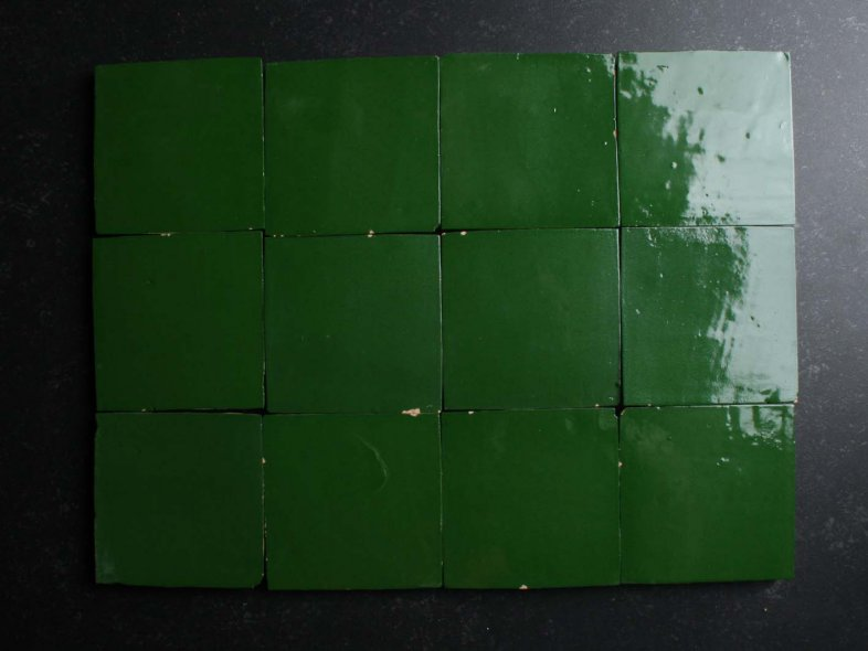 Authentiek Groen 10x10 cm