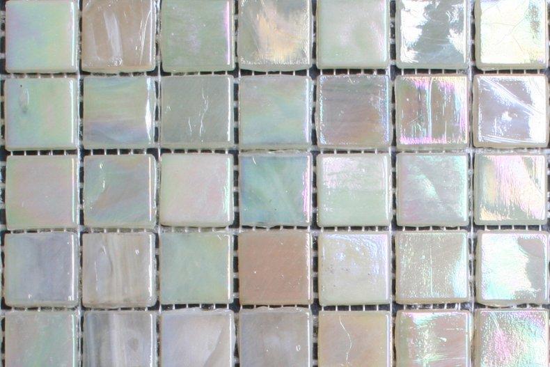 Super 15mm glasmozaiek tegels - parelmoer mix - Otiles AJ-13