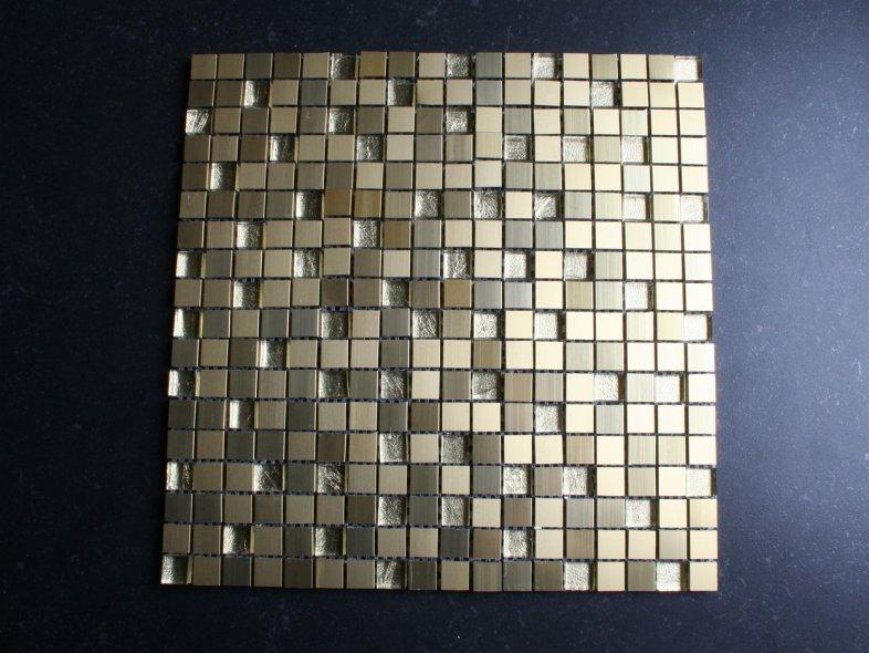 Glas Mozaiek Tegels : Mm goud glas mozaiek tegels otiles