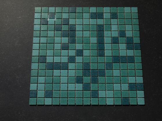 Zwembad Moza u00efek tegels Turquoise mix   Otiles