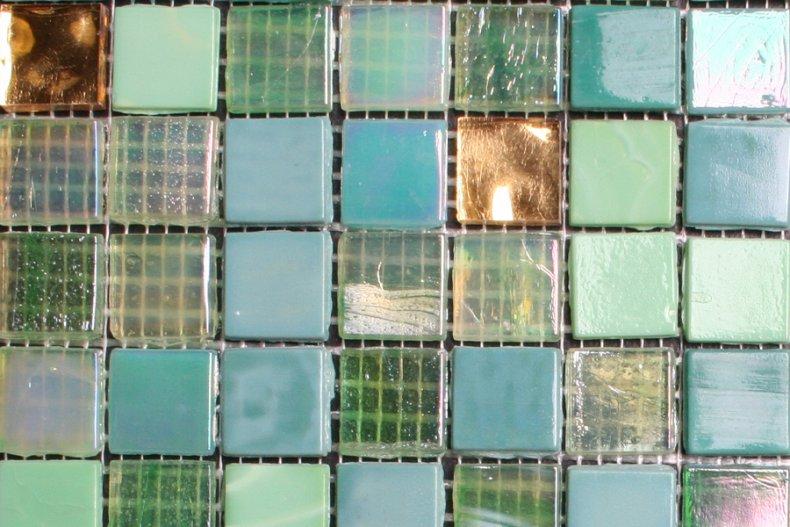 Glas Mozaiek Tegels : Mm glasmozaiek tegels groen goud mix otiles