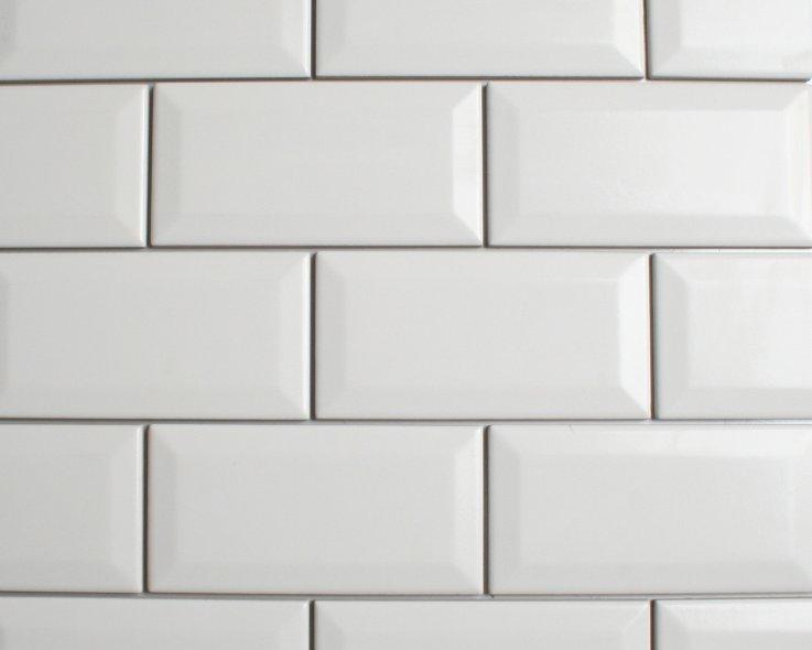 Metrotegel wit cm glans otiles for Matte tegels