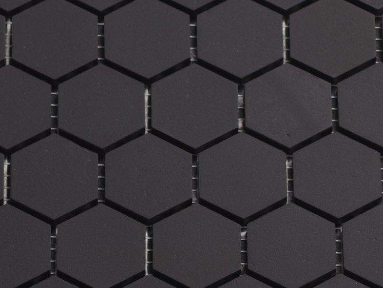 Cm zwart zeshoekig mozaiek otiles