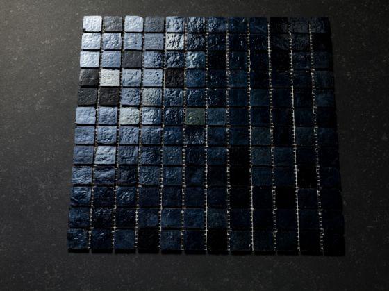Mozaïek zwart zilver iridiserend otiles