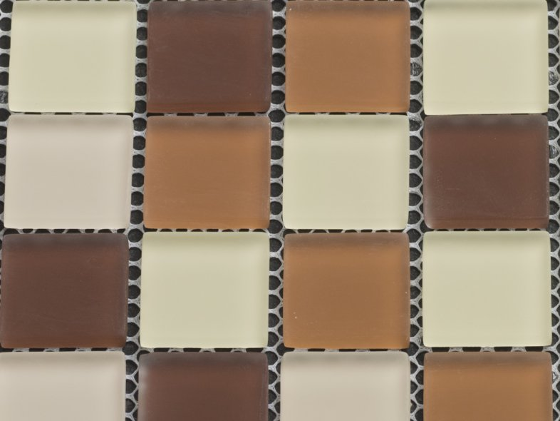 MHDK 24 - brown mix - matt/frosted 25x25x8mm