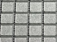 MHME 11 silver glitter thin metal-look 25x25x4mm