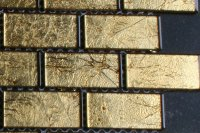 Goud 23x48mm brick glasmozaiek tegels