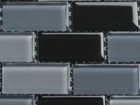 MHDN 30 - grey / black mix - brick 25x50x4mm