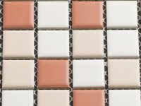 MHCE 12 white / terracotta mix matt 25x25x5mm