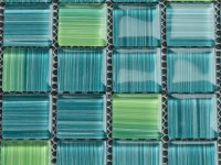 MHDN 19 - green / turquoise mix - stripes 25x25x4mm