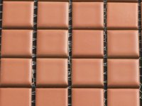 MHCE 05 terracotta 25x25x5mm UITLOPEND!