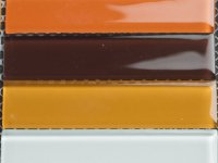 MHDN 31 - white / orange / brown mix 100x25x4mm